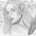 Portarit d'une fée au crayon
