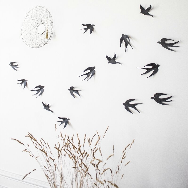 Envol d'hirondelles wall decoration TRENDY LITTLE