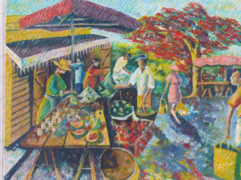 374-Scène de marché réunionnaise