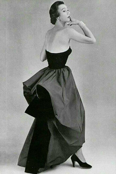 Bettina Graziani in Balenciaga, 1950