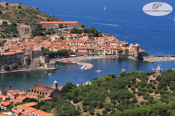COLLIOURE_le_port_vu_du_Fort_Saint_Elme