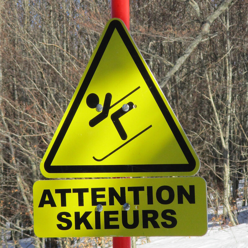 attention skieurs
