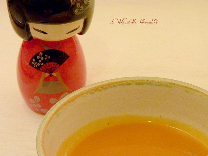 Soupe de courge conbava et gingembre