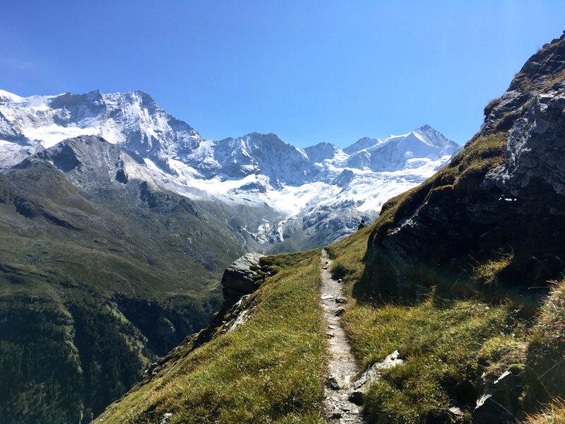 Le chemin des glaciers de Zinal