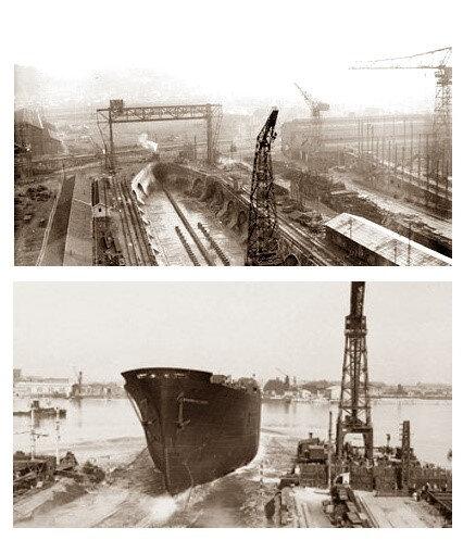 ChantiersGironde construction et miseà flot de Navire