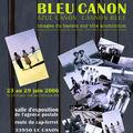affiche exposition bleu canon