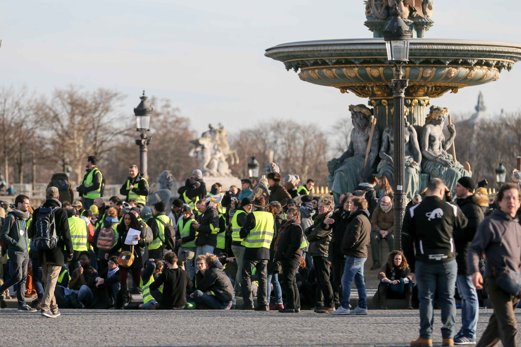 CGT et « gilets jaunes » à Paris : 14.000 manifestants selon Occurrence. © Michel Stoupak. Mar 05.02.2019, 16h12m57.