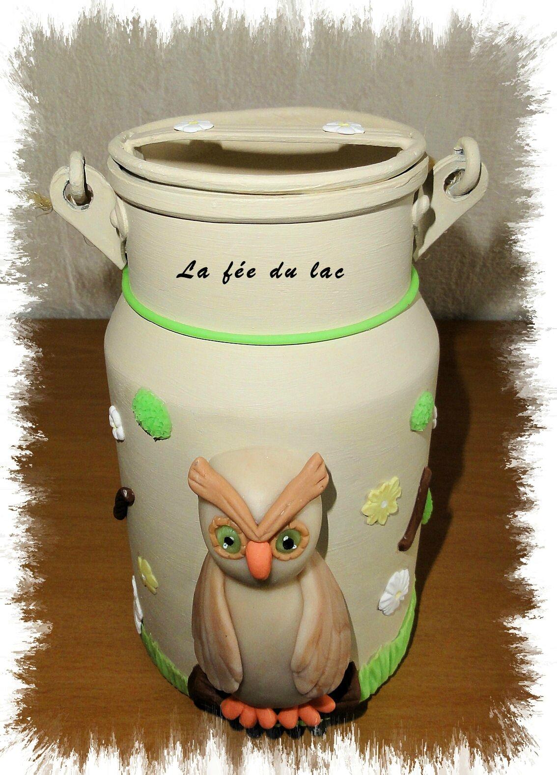 Pot à lait chouette 1