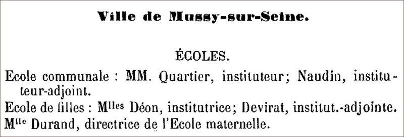 Déon et Devirat institutrices - 1895