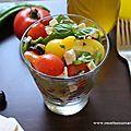 Salade de tomates cerises à la feta et au basilic