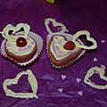 Cupcakes de la saint valentin, épisode 1 : cupcakes framboise/ chocolat blanc