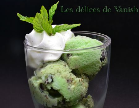 glace menthe chocolat - thermomix - chantilly vanille