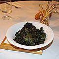 Chips de chou kale (apéritif)