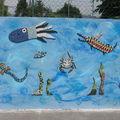 Projet école La Fresnaie : fresque marine