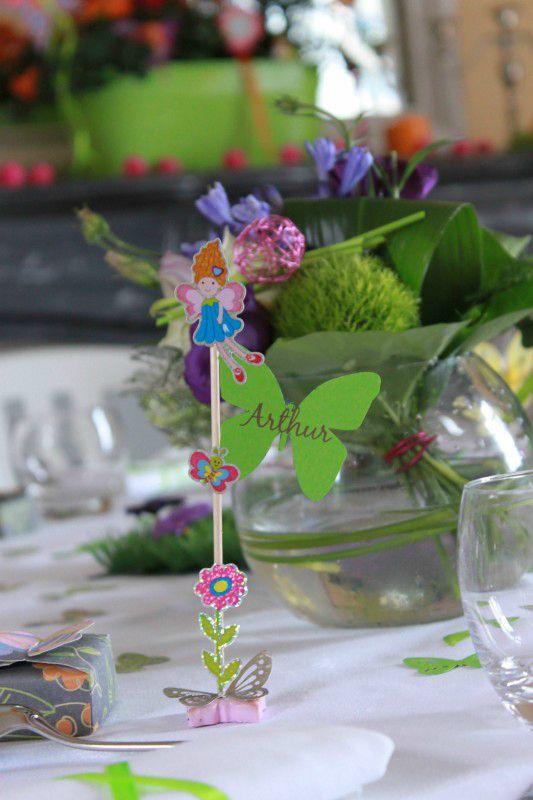 B-Mariage thème Fées tables enfants