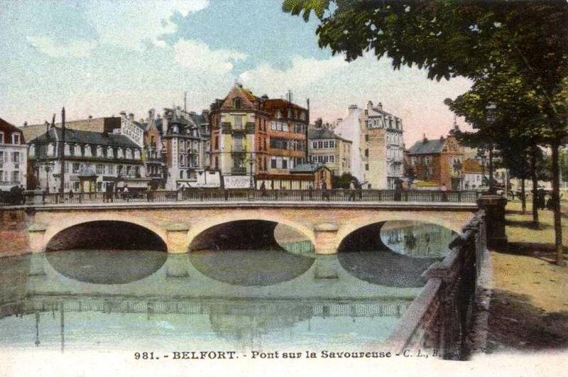 CPA Belfort Savoureuse Pont Carnot