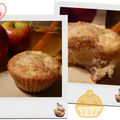 Muffins ultra moelleux pommes - noisettes