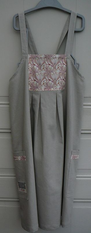 Robe Tablier Q Lin Gris