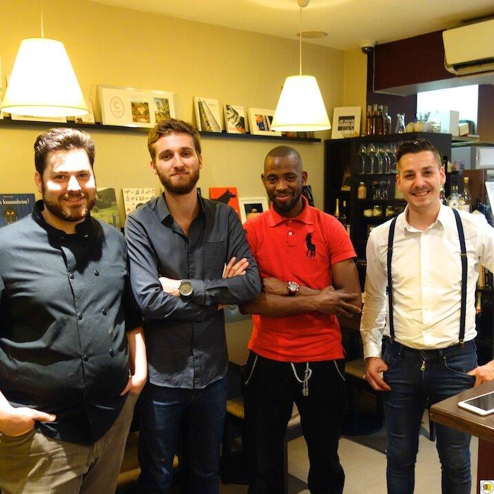 Le Chef Damien Despres et son équipe
