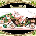 Panier de noël : emballage, décoration, étiquettes, sachets, bocaux ....