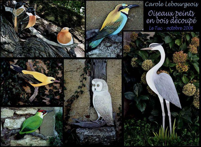 Oiseaux peints sur bois découpé - Carole LebourgeoisCarole Lebourgeois - CanalBlog