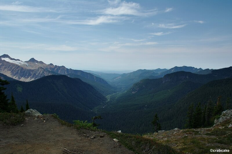 View from the tower of Park Butte Mount Baker
