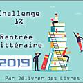 Récapitulatif rentrée littéraire 2019