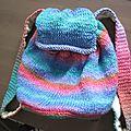 Sac à dos au crochet et tricot