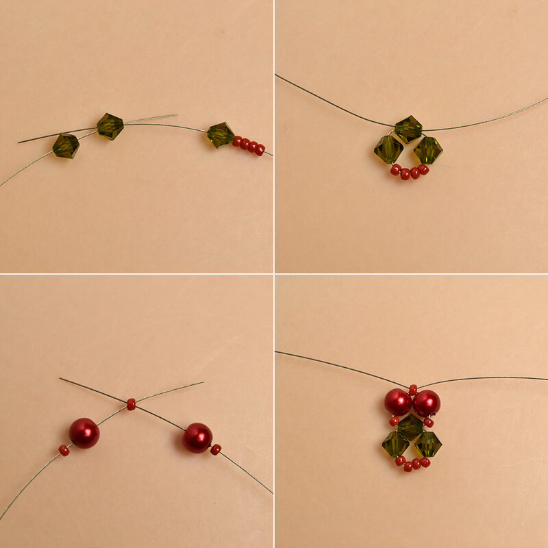 How-to-Make-a-Beaded-Christmas-Bracelet-with-Glass-Beads-and-Seed-Beads-2