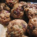 Keftas de boeuf (boulettes de boeuf) et sauce tomate épicée