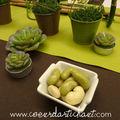 déco de table thème POTAGER CHIC par le jardin des oliviers en D
