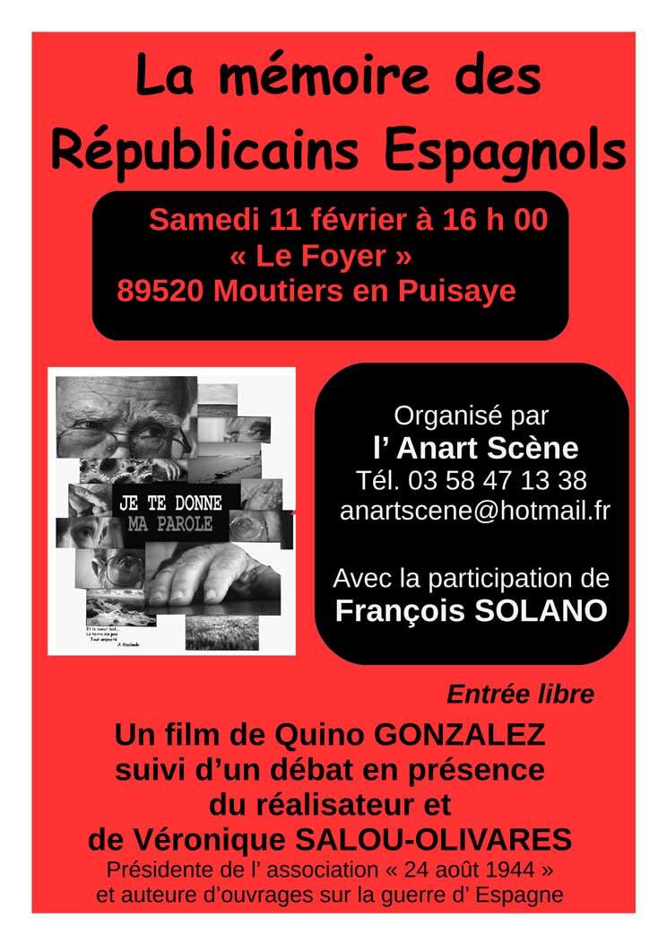 L'Anart Scène met à l'honneur les Républicains espagnols...