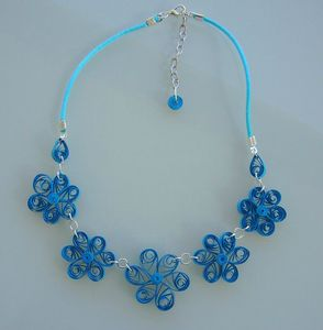 collier quilling turquoise 2