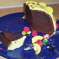 gâteau chocolat recouvert de pate à sucre