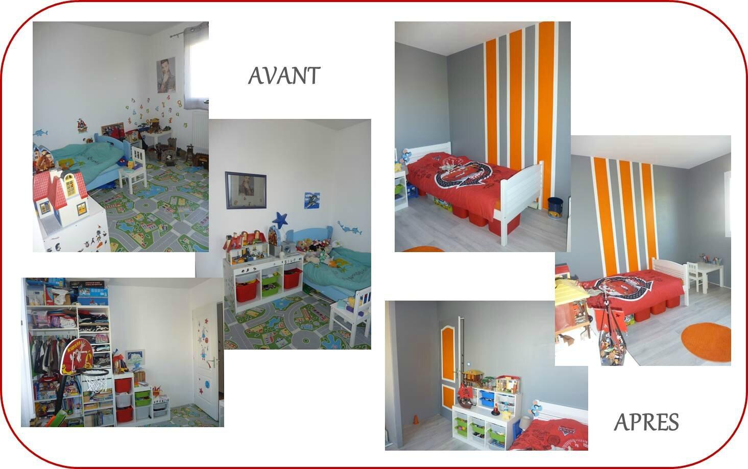 Home Staging Photos Avant Après chambre petit garçon - décor & vos envies