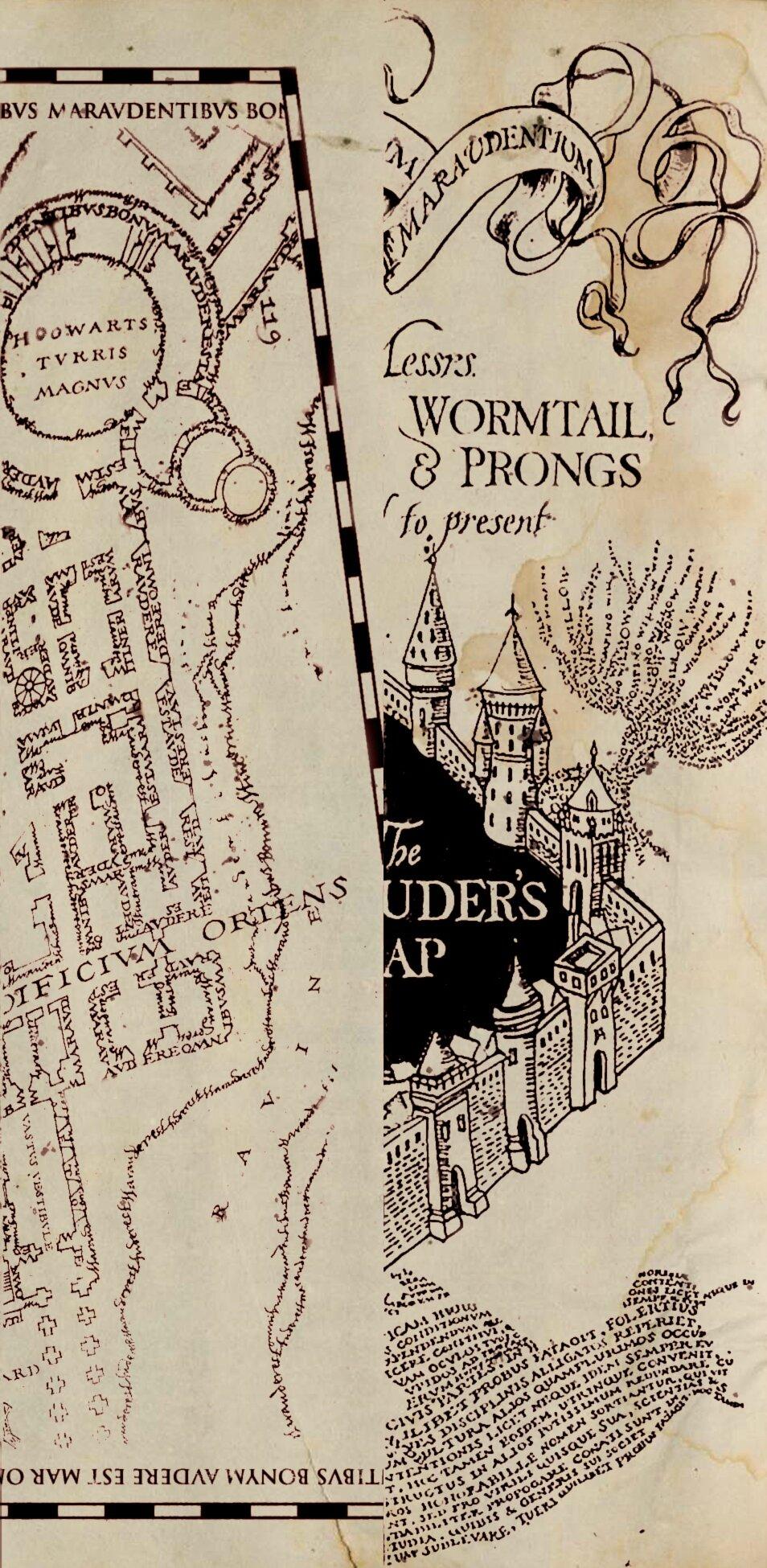 carte du maraudeur à imprimer La carte du maraudeur imprimable   Fangirl potter