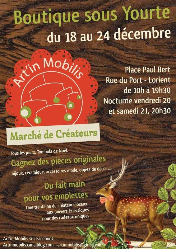 affiche marché de Noël sous yourte 2013