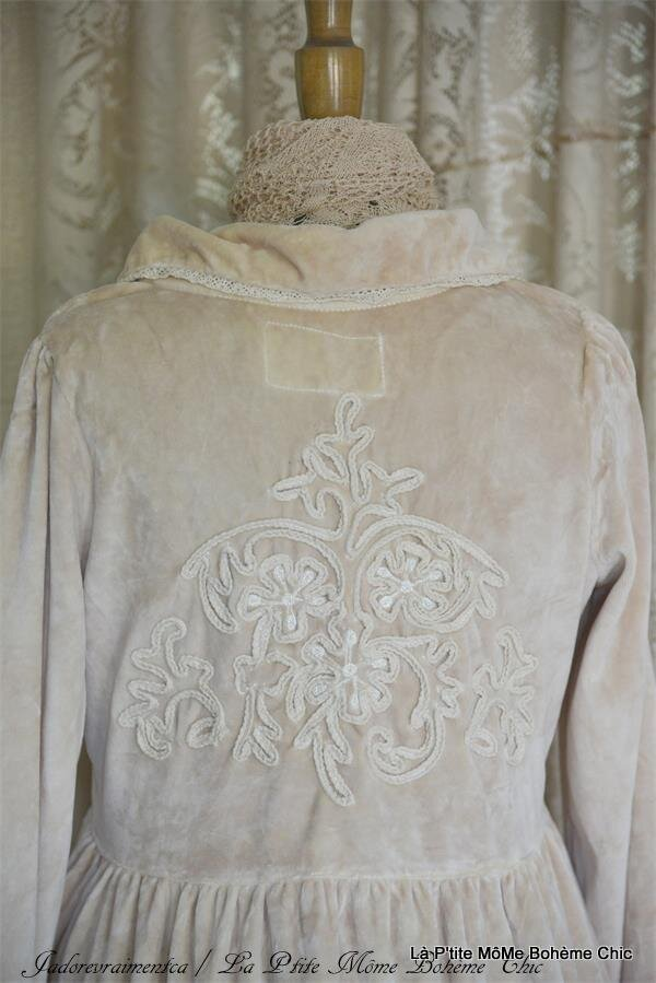 901138.Jeanne D'arc Vintage velvet coat linen color.03.JPG