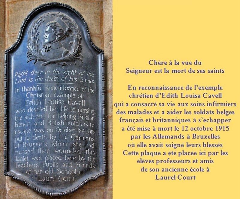 Mémorial Cathédrale Peterborough & Texte