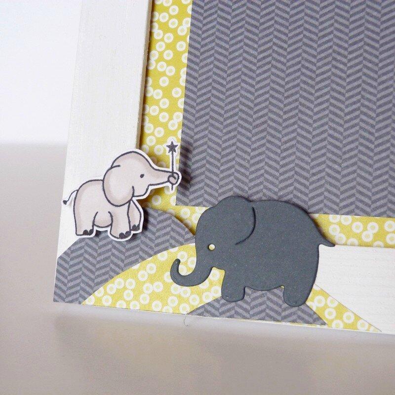 Cadre naissance elephant gris noir jaune (3)