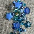 broche bleue noel etoile