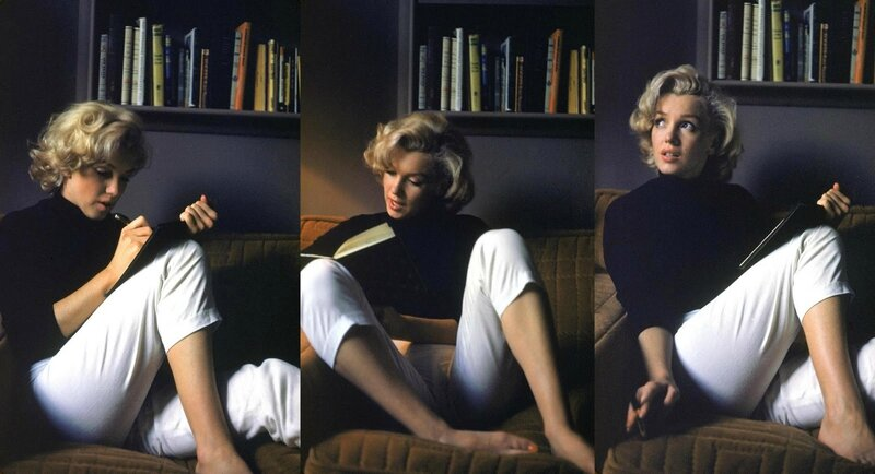 Marilyn Monroe_reading and writing
