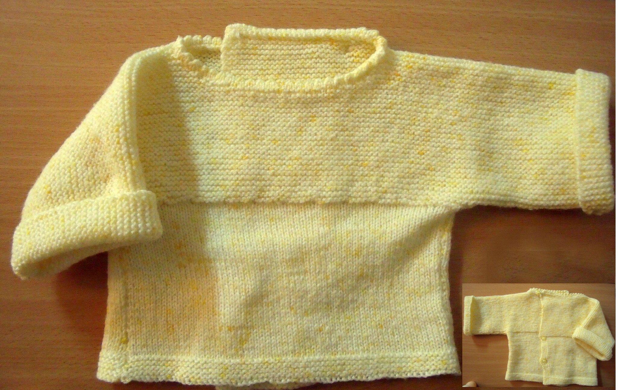 4af258df276ec Je veux trouver un joli tricot pour mon bébé ou à offrir pas cher ICI Brassière  bébé à tricoter