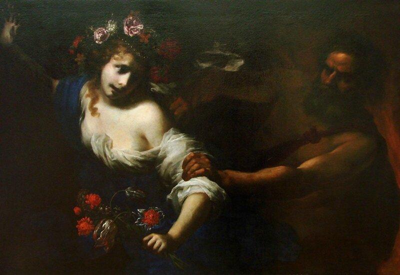 L'Enlèvement de Proserpine vers 1650 par Simone Pignoni