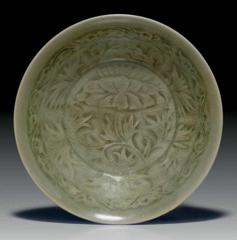 A molded Yaozhou celadon bowl, Song-Jin Dynasty, 12th-13th century