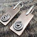 Bo220 - boucles d'oreille spirale en bronze
