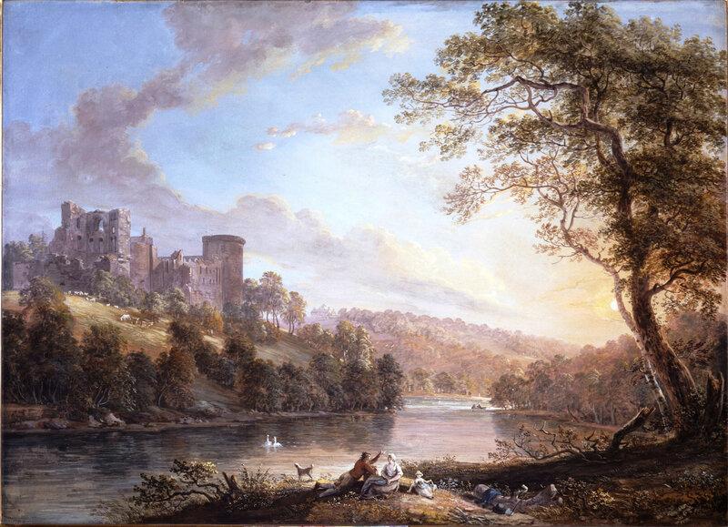 Mitchell-John-Mitchell-Fine-Paintings-Paul-Sandby-Bothwell-Castle-Lanarkshire-LAW19W-1