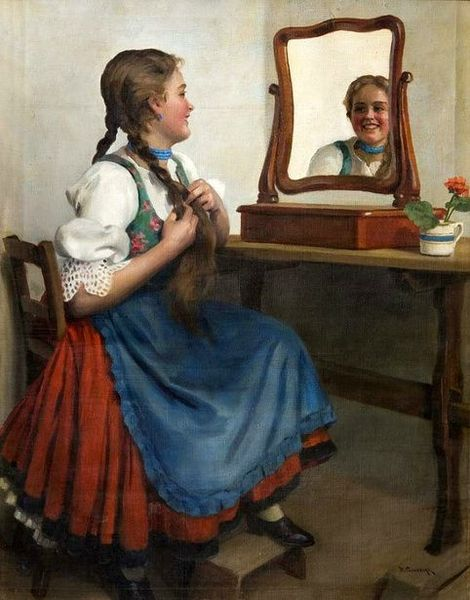 Pimonenko Nikolai girl-at-the-mirror