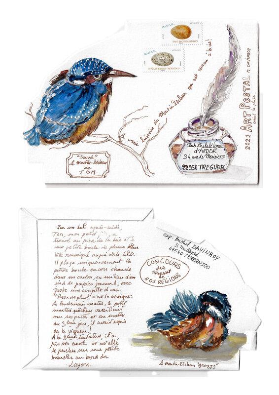 Art Postal Martin Pêcheur présentation