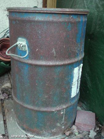 recycler un Baril ou un fût en métal